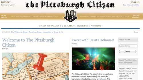 """Pittsburgh Citizen"": Periodismo ciudadano hiperlocal"