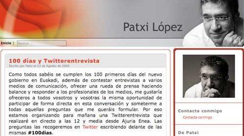 """Twitterentrevista"" de Patxi López tras 100 días de gobierno"