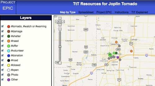 Un mapa interactivo para ayudar a los afectados por el #tornado #joplin