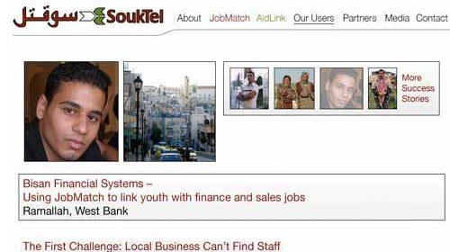 Mensajes SMS para ayudar a los jóvenes palestinos a encontrar trabajo