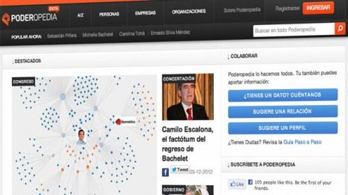Poderopedia: periodismo de datos colaborativo para mapear el poder en Chile