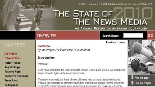"""State of the News Media"": Periodismo ciudadano local como ejemplo de innovación"