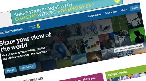 GuardianWitness: nueva plataforma de periodismo ciudadano de The Guardian