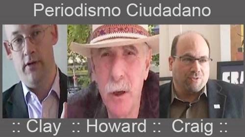 Periodismo Ciudadano según Clay Shirky, Howard Rheingold y Craig Newmark