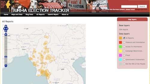 Burma Election Tracker mapea las 1º elecciones birmanas en 20 años
