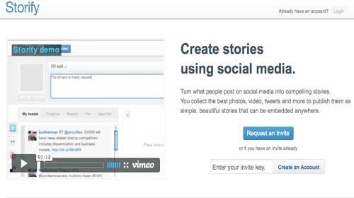 Storify: Una herramienta para crear información dinámica