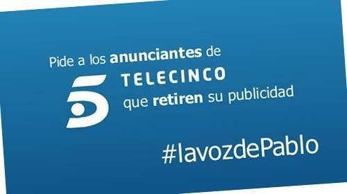 La Red se moviliza #Todosconpablo frente a la querella interpuesta por Telecinco