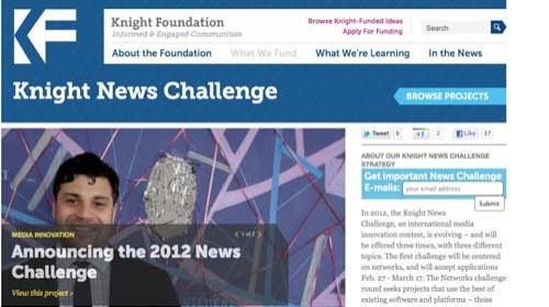 El consurso de la Knight News Challenge premiará la innovación en redes sociales