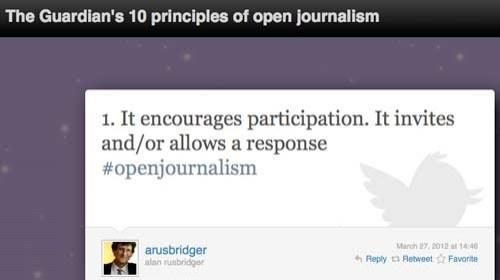 10 ideas sobre el periodismo abierto según el Guardian #openjournalism