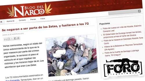 """El Blog del Narco: Periodismo ciudadano para luchar contra la """"narcocensura"""""""