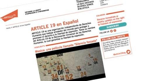 """Artículo 19, México: """"El derecho a bloguear"""" #Right2Blog"""