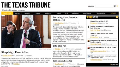 """The Texas Tribune, un nuevo medio """"sin fines lucrativos"""""""