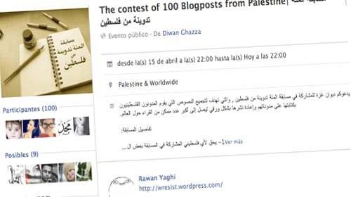 """""""100 Palestinian Blog Posts"""": empoderando a los jóvenes palestinos"""