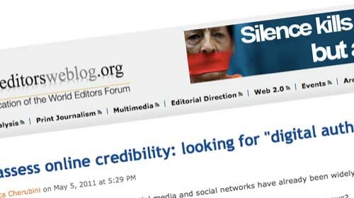 """¿Cómo evaluar la credibilidad de la información en línea?. La """"Autoridad Digital"""""""
