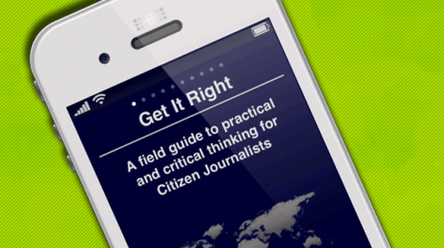 Get It Right, un curso básico de periodismo en una aplicación para iPhone