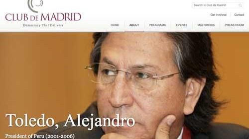 """Alejandro Toledo: """"Las nuevas tecnologías hacen que los gobiernos, finalmente, rindan cuentas ante sus ciudadanos"""""""