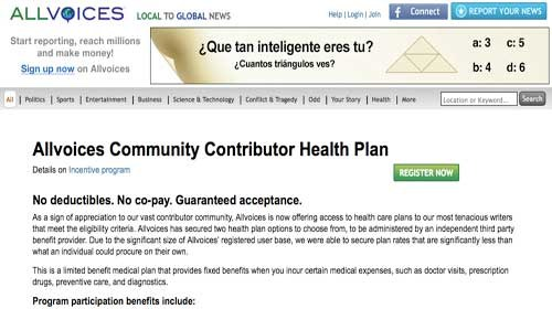 Allvoices ofrece asistencia sanitaria a sus mejores periodistas ciudadanos