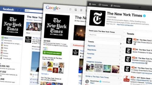 Formas de interacción del New York Times en los medios sociales