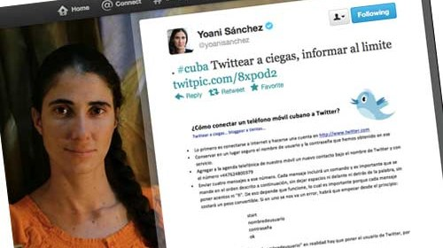 "@YoaniSanchez ""Twitteando a ciegas"" o cómo usar Twitter sin conexión a Internet"
