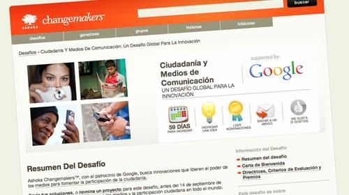 """Google patrocina el desafío de Changemakers """"Ciudadanía y Medios de Comunicación"""""""