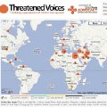Threatened Voices (Voces Amenazadas): Un mapa mundial para defender la libertad de expresión