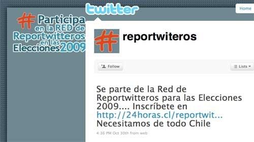 """Twitter se une al periodismo ciudadano en """"Reportwitteros"""" para cubrir las elecciones en Chile"""