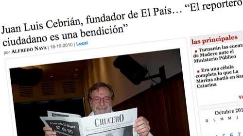 """Juan Luis Cebrián: """"Bienvenido sea el periodismo ciudadano"""""""