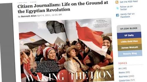Periodismo Ciudadano: la revolución egipcia llega a Vanity Fair