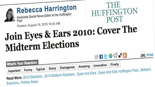 """""""Eyes and Ears"""": Los ciudadanos cubren las elecciones en USA para el Huffo"""