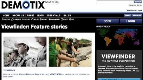 Viewfinder: Una concurso mensual de Fotoperiodismo en colaboración con Demotix