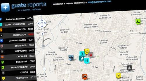 Guatereporta, colaboración ciudadana frente a la inseguridad en Guatemala