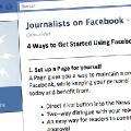 "Facebook lanza ""Journalists on Facebook"", una página de recursos para periodistas"