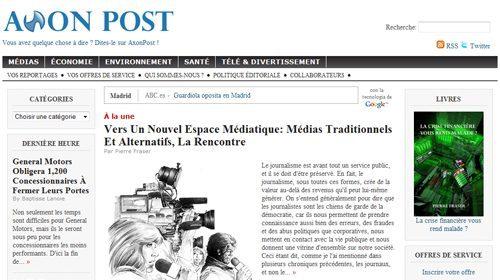 Vos Reportages, periodismo ciudadano en Axon Post