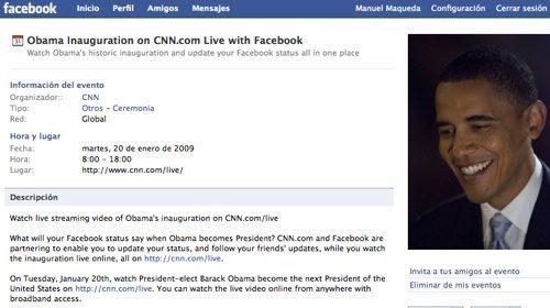 Facebook y Obama: unidos desde la campaña hasta la investidura.