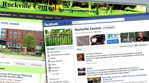 El medio hiperlocal Rockville Central abandona su web y migra a Facebook