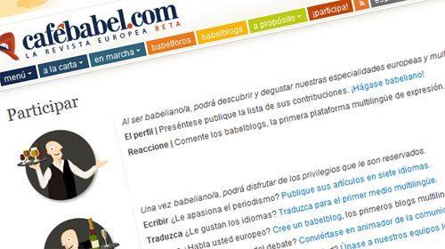 Cafebabel.com, un espacio europeo de participación