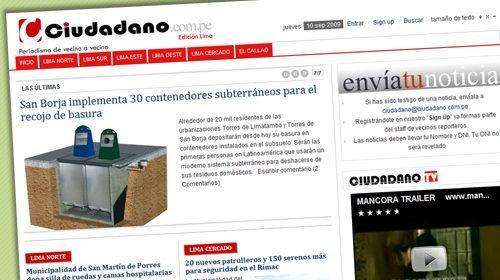 Ciudadano, un medio participativo para Lima