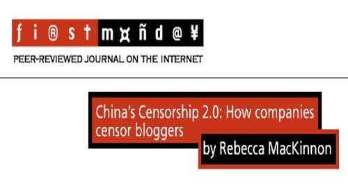 Censura 2.0 en China: un estudio de Rebecca MacKinnon