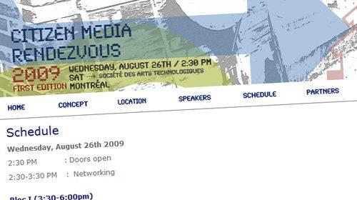 Citizen Media Rendezvous, encuentro en torno al periodismo ciudadano en Montreal