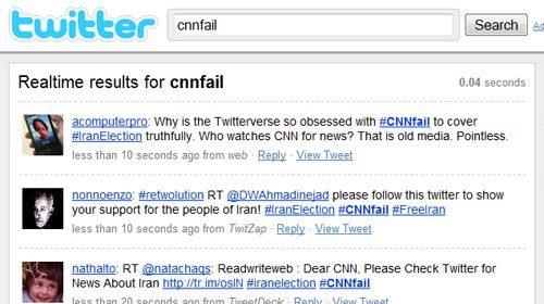 Twitter critica a la CNN por su falta de cobertura de las revueltas postelectorales en Irán