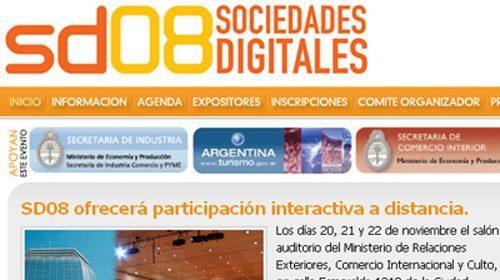 I Foro Internacional de las Sociedades Digitales(SD08) en Argentina