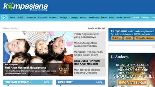 Kompasiana: un medio ciudadano nacido gracias al apoyo de un periódico profesional