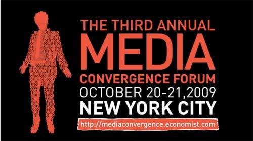 """Craig Newmark, Jack Dorsey y Jeff Jarvis en el """"Media Convergence Forum 2009"""""""