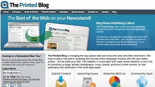El blog en papel ¿El mundo al revés?