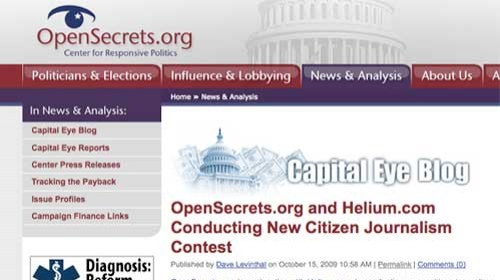 Concurso de periodismo ciudadano OpenSecrets.org