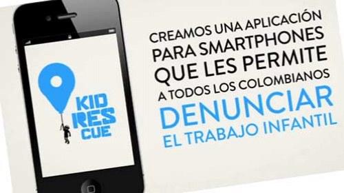 Kid Rescue: una aplicación móvil para denunciar la explotación infantil en #Colombia