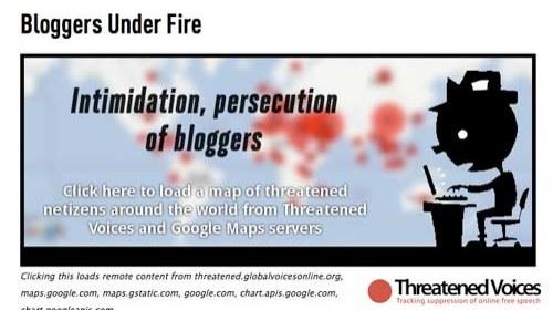 """""""Bloggers Bajo Fuego"""":  Un proyecto para la protección de los blogueros amenazados"""