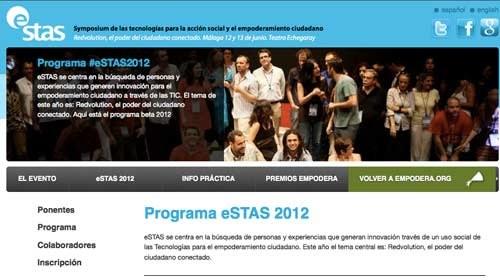 """#eSTAS2012 : """"Redvolution, el poder del ciudadano conectado"""""""