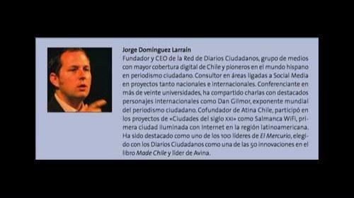 """Jorge Domínguez Larraín y la Red de Diarios Ciudadanos Chilena """"Mi Voz"""": """"una red de periodistas hiperlocales"""""""