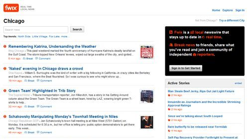 Fwix, noticias locales en tiempo real